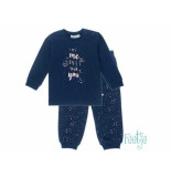 Feetje Pyjama my me loves your you navy blauw