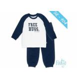 Feetje Pyjama free hugs kids off-white ecru
