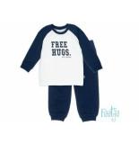 Feetje Pyjama free hugs baby off-white ecru