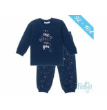 Feetje Pyjama my me loves your you ki navy blauw