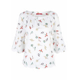 s.Oliver Blouse met bloemmotief 14904192594 01a0 wit