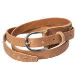 YAYA – belt with small studs camel
