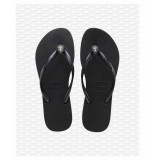 Havaianas Crystal poem black slipper