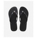 Havaianas Crystal poem black slipper zwart