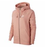 Nike W nsw essntl hoodie fz flc bv4122-606 rood