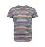 No Excess Multi coloured striped tshirt 90350418 045 desert