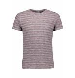 No Excess Striped tshirt 90350451 182 dk cherry rood