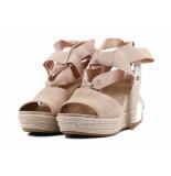 UGG Australia Sue strik sandaal sleehak beige