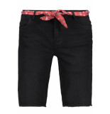 Only Onlamaze belt reg denim shorts 15188059 black zwart