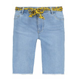Only Onlamaze belt reg denim shorts 15188059 light blue denim blauw