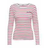 Only Onykira l/s top box jrs 15178084 bright white/flame wit