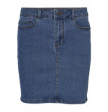 Vero Moda Vmhot seven mr short skirt denim 10209954 medium blue denim blauw