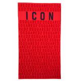 Dsquared2 D7p001710 handdoek - rood