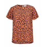 Modstrom Blouse 54384 robbie print top oranje