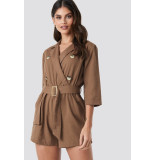 NA-KD Front button linen look 1610-000039 bruin