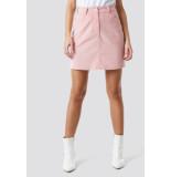 NA-KD Co-ord corduroy mini skirt 1018-002507 roze