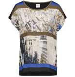 Taifun T-shirt short-sleeve jungle green patterned 371071-16217