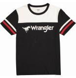 Wrangler Rugby tee w7b85glv6 zwart