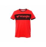 Wrangler Logo tee w7b68fq1p rood