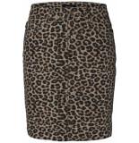 Pieces Pcsky hw aop skirt-jj 17096917 peyote/leopard pr bruin