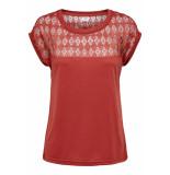 Jacqueline de Yong Jdykimmie renee s/s lace top jrs ex 15193015 tandori spice/dtm lace oranje