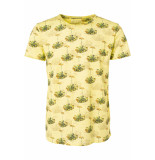 No Excess All over printed t shirt 91350431 056 lime geel