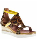 Mjus Sleehak sandalen beige