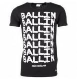 Ballin Amsterdam Graffiti t-shirt zwart