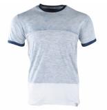 Indicode Heren tshirt ronde hals crombie blauw
