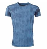 Indicode Heren tshirt ronde hals moreno china blue blauw