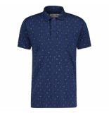 Shiwi Heren polo trendy design blauw