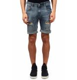 Just Junkies Mike korte broek blauw denim