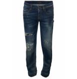 Frankie Morello 8092je broek blauw denim