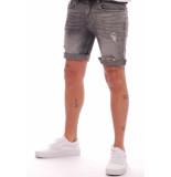Just Junkies Vintage mike korte broek - grijs