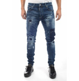 My Brand Jack 055 destoyed jeans – blauw denim