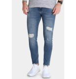 Just Junkies Max jeans pillow blue holes - denim