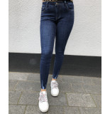 Queen Hearts Jeans fray hem donkerblauw