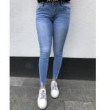 Queen Hearts Jeans skinny crop blauw