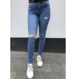 Queen Hearts Jeans high waist 9170 lichtblauw