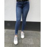 Queen Hearts Jeans mid high waist - blauw