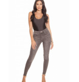 LA Sisters High waisted jeans grijs