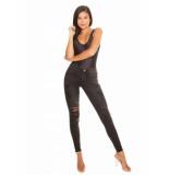 LA Sisters High waist jeans donkergrijs antraciet