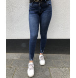 Queen Hearts Jeans fray hem 9020 donkerblauw