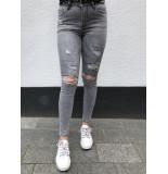 Queen Hearts Jeans 586 - grijs