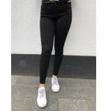 Queen Hearts Fray hem jeans - zwart