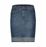 Bianco Jeans Korte rok 1118379-poppy jasper blauw denim