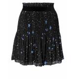 YAYA – starprint plisse skirt zwart