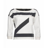 Zip73 416-62-01 sweater z zwart wit