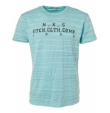 No Excess T-shirt s/sl, r-neck, gd,injection lt seagreen blauw