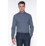 Blue Industry Casual overhemd met lange mouwen grijs